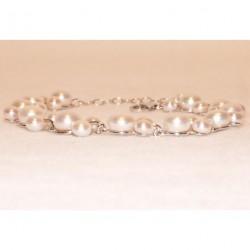 Bracelets en perle de culture entièrement monté sur argent
