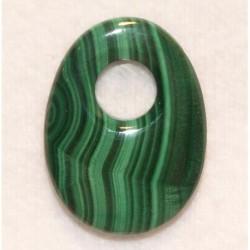 pendentif ovale en malachite