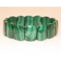 bracelet large en malachite