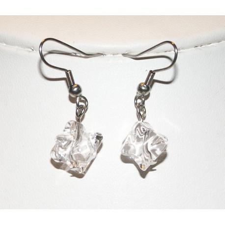 Boucles d'oreille étoile de cristal de roche