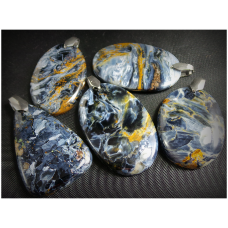 Pendentif en pietersite bleue