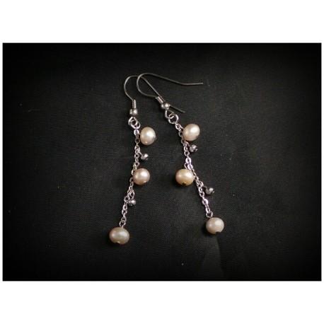 Boucles d'oreilles en perles de culture