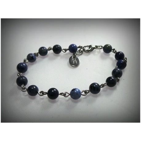 "Bracelet ""bleu"" en dumortierite"