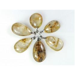 Pendentifs en quartz rutile